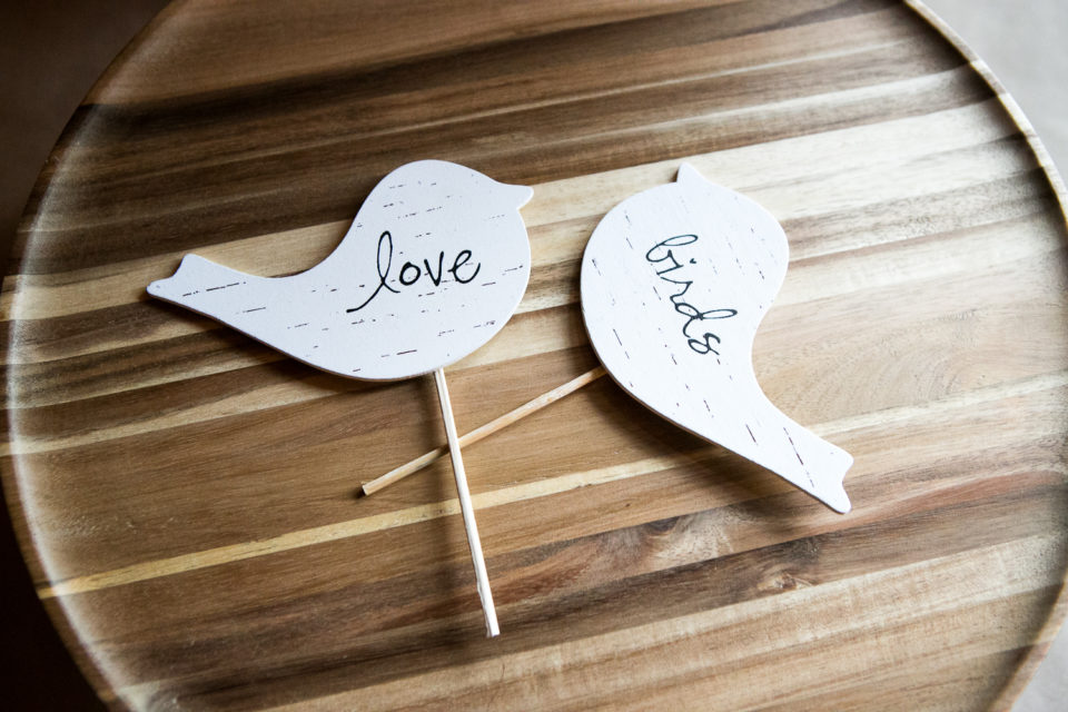 Love bird wedding decorations