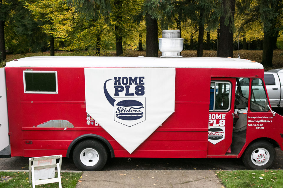 Home Pl8 food truck at the wedding of Daniel and Rose