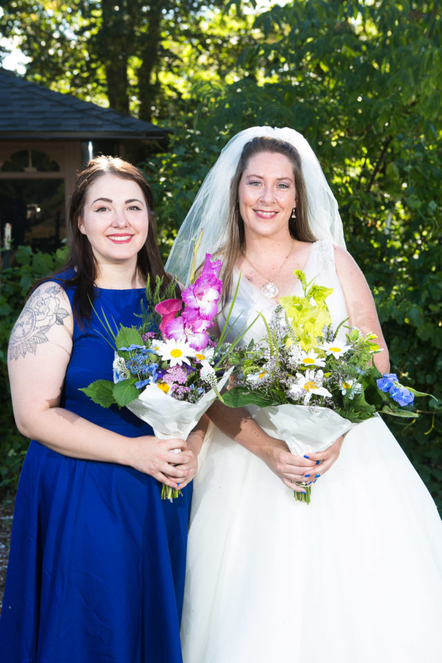 The bride and her bridesmaid