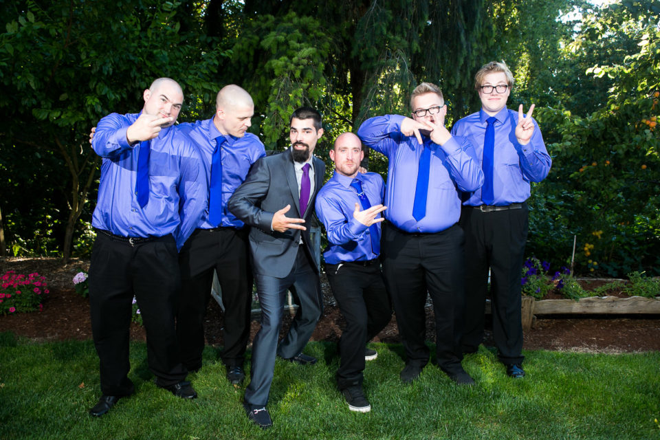 The groom and his best men at the Sweet Dreams Venue, Salem, OR