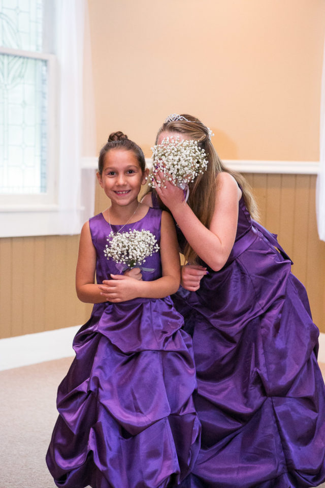 Flower girls at the wedding of Tricia & Aubrey