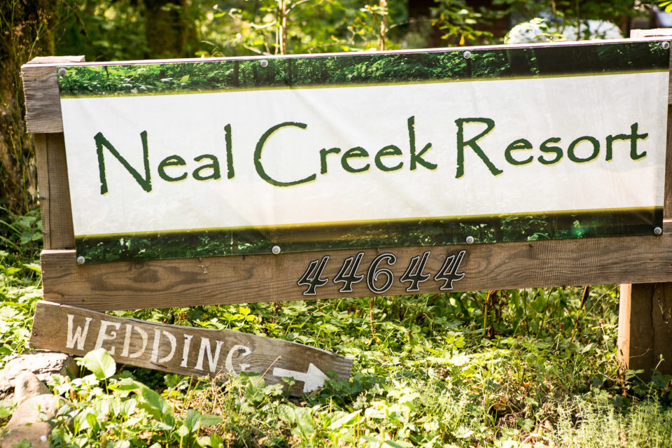 Neal Creek Resort sign